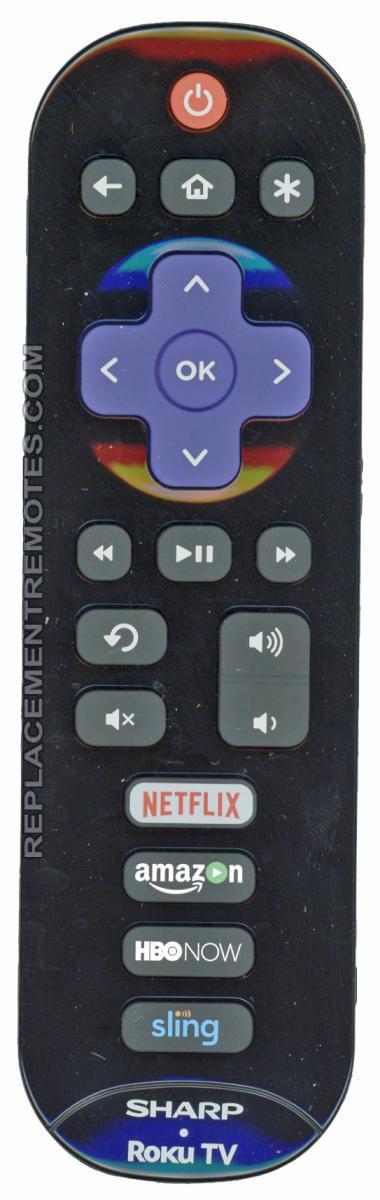 SHARP EN3B32R ROKU TV Remote Control