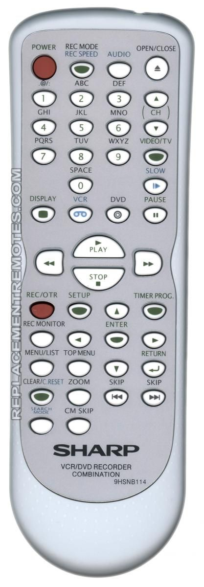 SHARP 9HSNB114 Remote Control