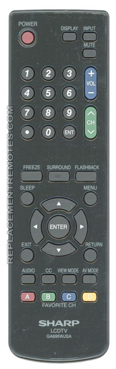 SHARP GA695WJSA TV Remote Control