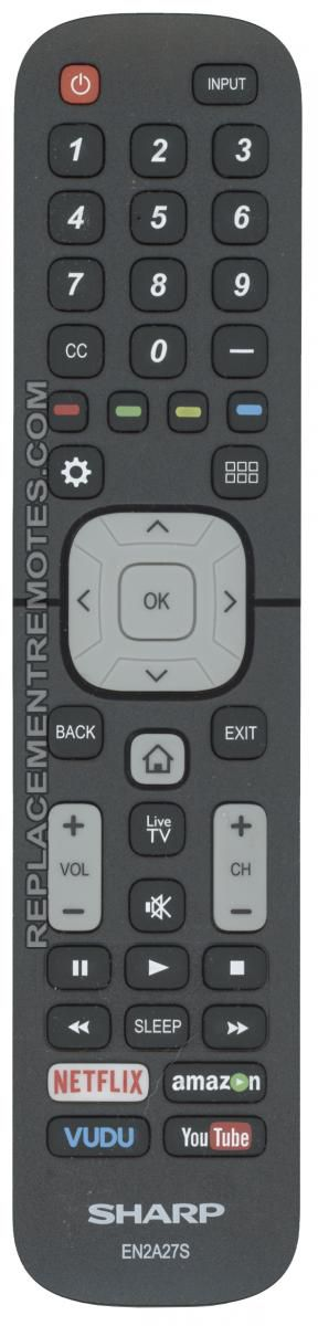 SHARP EN2A27S TV Remote Control