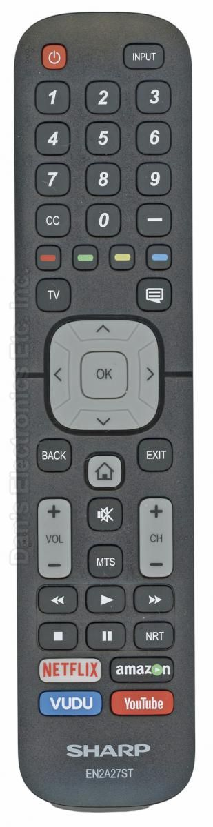 SHARP EN2A27ST TV Remote Control