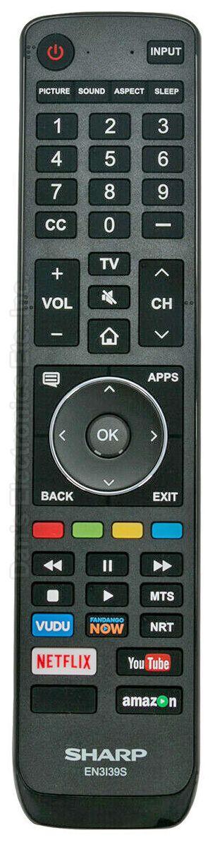 SHARP EN3I39S TV Remote Control
