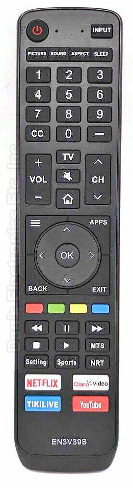 SHARP EN3V39S TV Remote Control