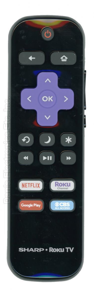 SHARP LCRCRCA21 ROKU TV Remote Control