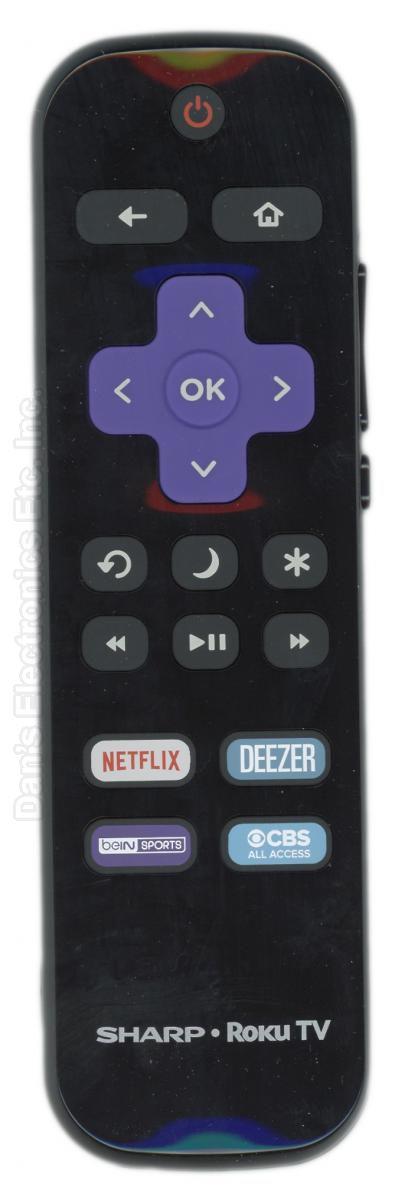 SHARP LCRCRUDCA20A ROKU TV Remote Control