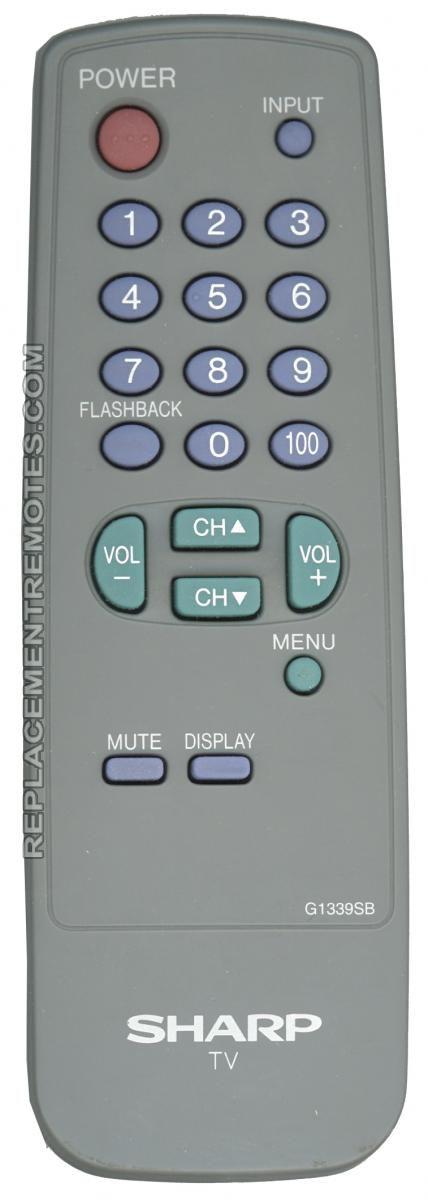 SHARP G1339SB TV Remote Control