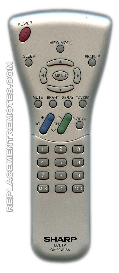 SHARP GA102WJSA TV Remote Control