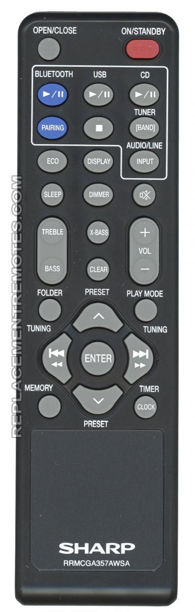 Buy Sharp Rrmcga357awsa Audio System Remote Control