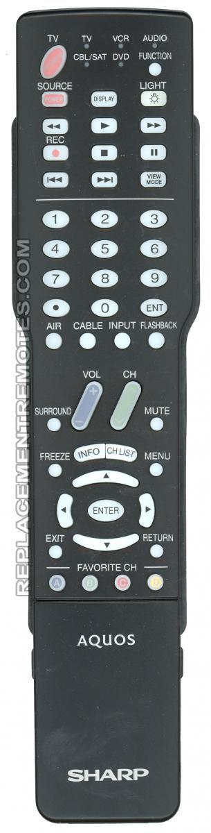 SHARP GA414WJSA TV Remote Control