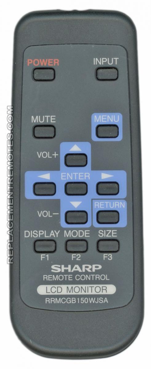 Buy Sharp Rrmcgb150wjsa Monitor Remote Control