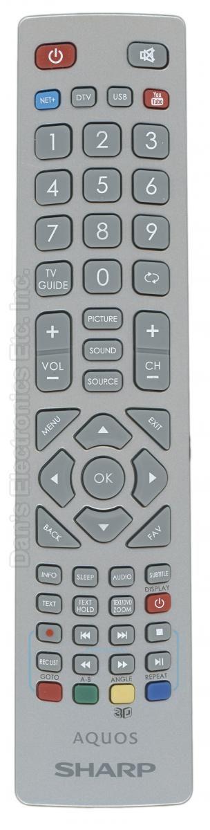 SHARP SHWRMC0112 TV Remote Control