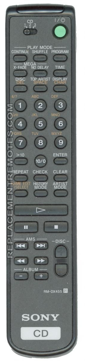 RM-DX455 RM-DX455 Sony Remote Commander