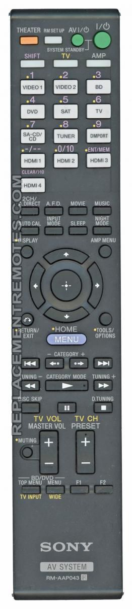 buy sony 1 487 865 11 rm aap043 148786511 audio video receiver rh replacementremotes com