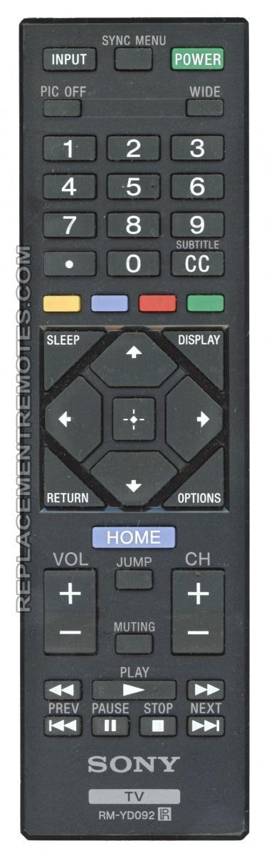 SONY RMYD092 TV Remote Control