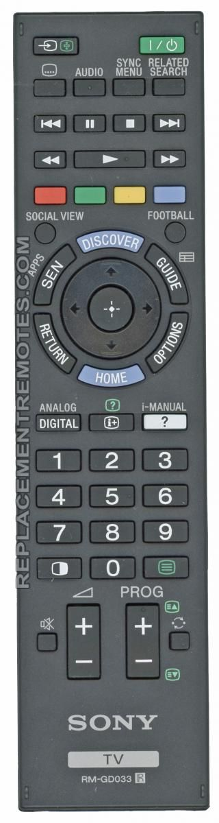 Buy SONY RM-GD033 -149272711 TV Remote Control