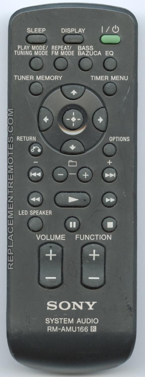 Buy Sony Rm Amu166 Rmamu166 A1920726a Audio System Remote