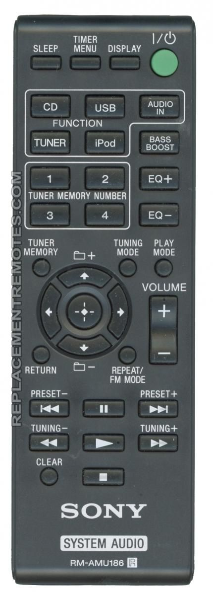 Buy Sony Rmamu186 A1970521a Audio System Remote Control