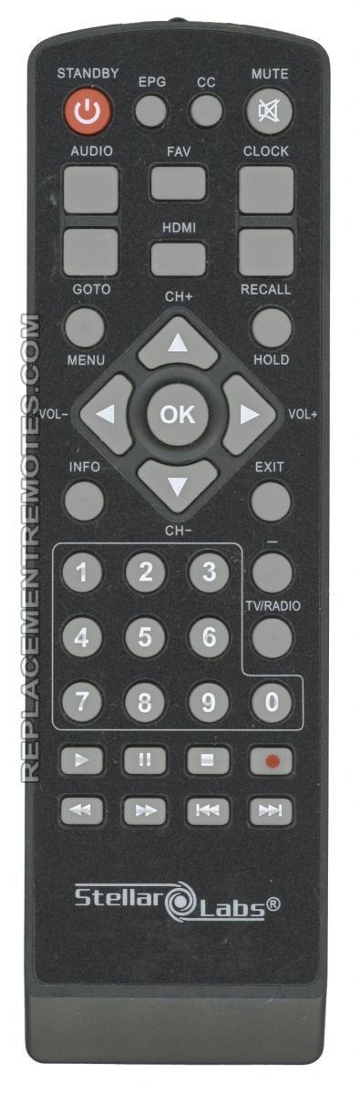 Stellar Labs DT800REM Digital TV Tuner Converter Box Remote Control
