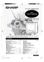 SHARP 13vtl150om Operating Manuals