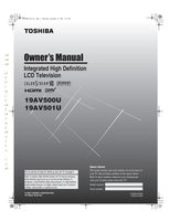 TOSHIBA 19av500om Operating Manuals