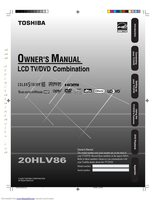 TOSHIBA 20hlv86om Operating Manuals