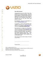 VIZIO vw37lom Operating Manuals
