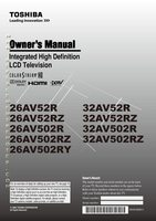 TOSHIBA 26av502rzom Operating Manuals