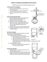 ANDERIC fan2rrr7078tr installation instructions Operating Manuals