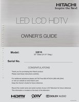 HITACHI 32e10om Operating Manuals