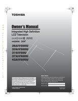 TOSHIBA 37av50uom Operating Manuals