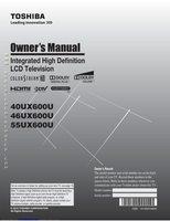 TOSHIBA 40ux600uom Operating Manuals