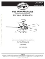 ANDERIC 51350campbell52inmediterraneanbronzeceilingfanom Operating Manuals