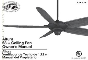 26668 68ATR Altura 68 in. Oil Rubbed Bronze Ceiling FanOM