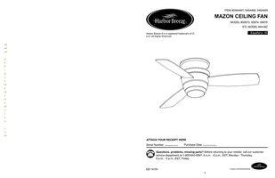 Harbor-Breeze 00873MAZONCEILINGFANOM Operating Manuals