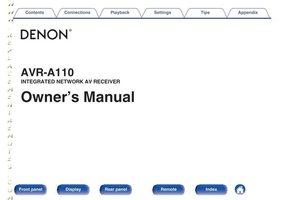 DENON AVRA110OM Operating Manuals