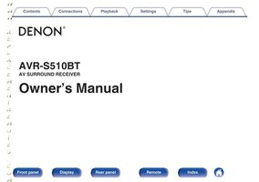 DENON AVRS510BTOM Operating Manuals