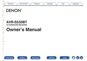 DENON AVRS530BTOM Operating Manuals