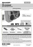 SHARP CDDH950POM Operating Manuals