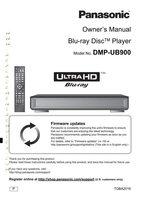 Panasonic DMPUB900OM Operating Manuals