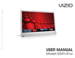 VIZIO E241iA1OM Operating Manuals