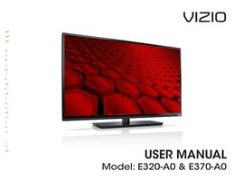 VIZIO E370A0OM Operating Manuals