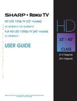 SHARP LC32LB601UOM Operating Manuals