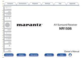 MARANTZ NR1506om Operating Manuals