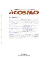 oCOSMO CE3230VOM Operating Manuals