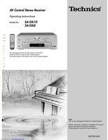 TECHNICS SADA8OM Operating Manuals