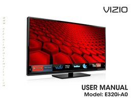 VIZIO E3201A0OM Operating Manuals