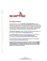 Sceptre X322BVOM Operating Manuals