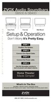 Zvox SOUNDBARSB500OM Operating Manuals