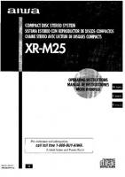 AIWA XRM25 XRM25UOM Operating Manuals