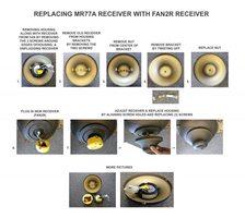 ANDERIC MR77A for Hampton Bay Ceiling Fan Ceiling Fan Kit